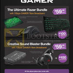 Gamer Ultimate Razer Bundle, Creative Sound Blaster Bundle