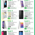 Leagoo Smartphones Elite 1, 2, 4, 5, 3, Lead 6, 5, 1i