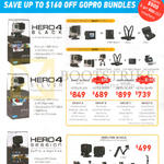 GoPro Action Cams Bundles Hero4 Black, Hero4 Silver, Hero4 Session, Simplified Bundles