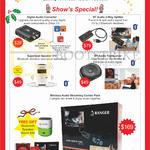 Accessories Digital Audio Converter, BT Audio 2 Way Splitter, Superbeat Speaker 310, BT Audio Transceiver, Wireless Audio Streaming Combo Pack