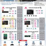 SSDs 950 Pro M.2 NVMe, T1, 850 Evo Series, 850 Pro Series, 850 EVO MSata, 850 Evo M.2