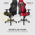Chairs Omega Stealth, Throne V2 CG Red