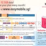 Singtel Easy Mobile 12.5GB Data, 30 Dollar Off All Online Phones Promo Code