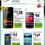 Mobile Prepaid Handset Bundles, Mobile Phones, Phicomm E551, C230, Huawei Y360, T1 MediaPad