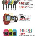 Treoo Jaybird X2, Pebble Time, Neon Pebble