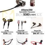 Treoo T-Peos Earphones Altone 350, 250, 150, H-300, Opera, Amadeus, DD100