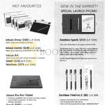 Wacom Hot Favourites, Intuos Draw, Bamboo Spark, Intuos Pro Pen Tablet, Bamboo Fineline 2