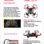 Free Loop U27, 2.4GHz LCD Control, Fully Assembled Airframe, Lipo Battery