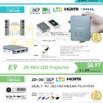 Innovative Projectors K4, K9, X1
