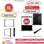 Innovative Table, Floor Screens