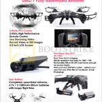 U842-1 Fully Assembled Airframe 2.4Ghz FPV Control, First Person View, Lipo Battery